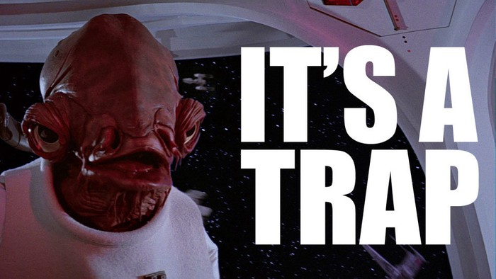 it's a trap text