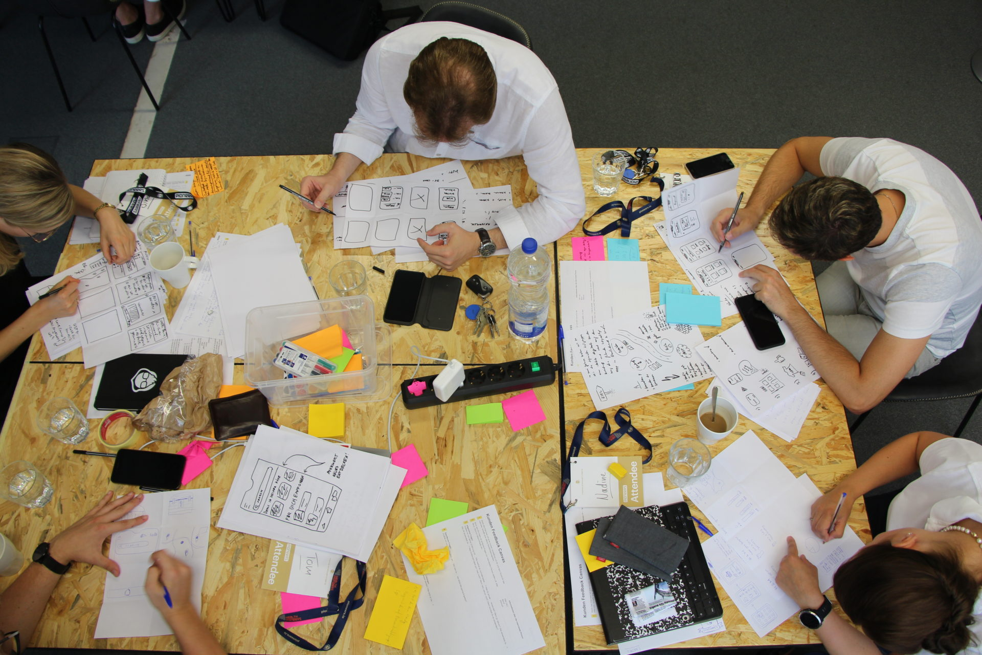 People working on a desk