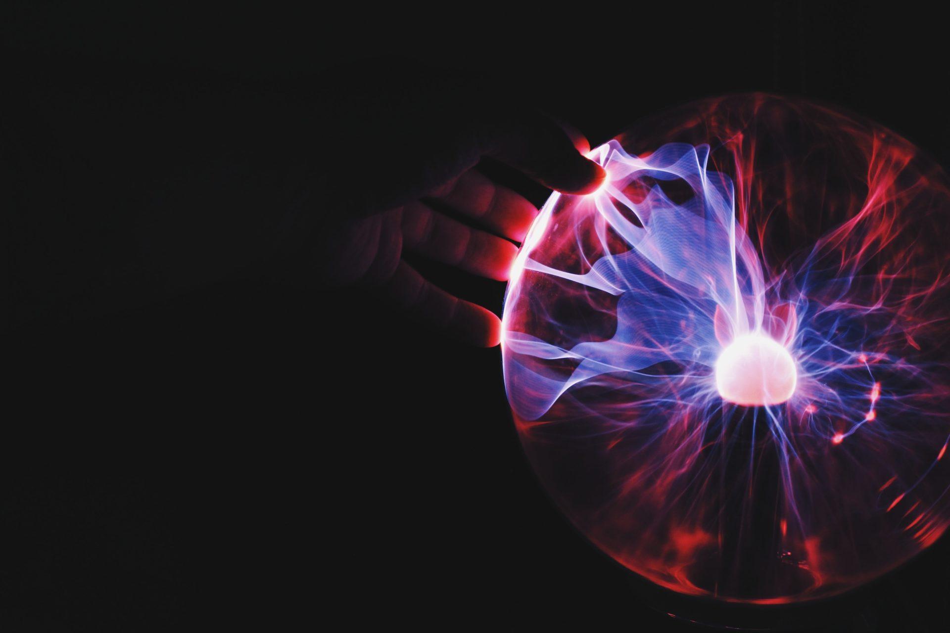 light bulb and hand